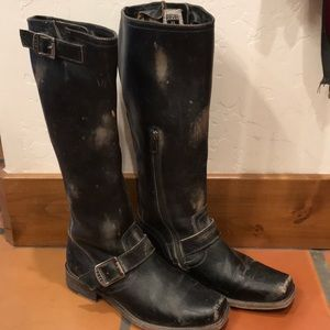 Frye Buckle Strap Tall Boots